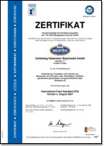 GOLDSTEIG IFS International Food Standard