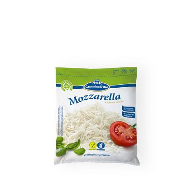 Mozzarella Grated made by GOLDSTEIG shown packaged