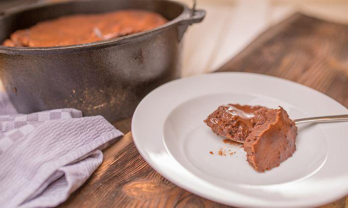 Schokoladenkuchen Mit Mascarpone Flussigkern Und Dunkelbier